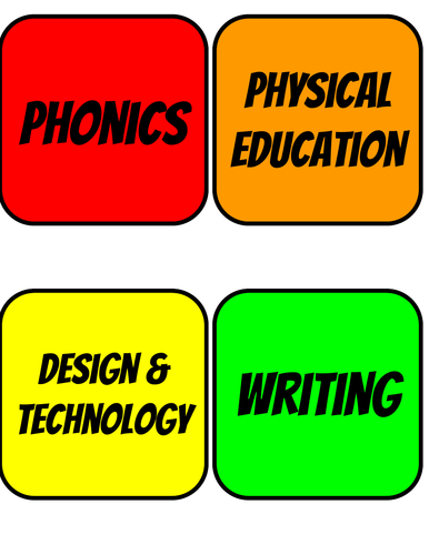 Classroom timetable cards(advanced version)