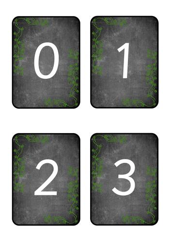 Chalkboard Number Cards