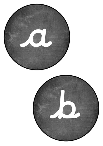 Chalk Alphabet Circles