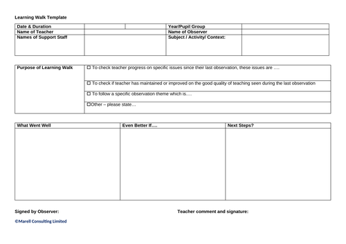 Simple Learning Walk Template
