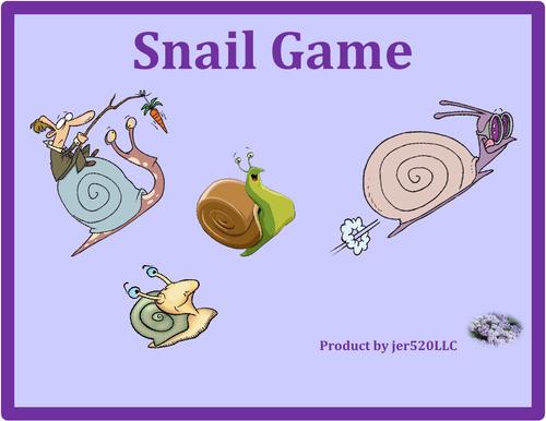Halloween in English Snail Game