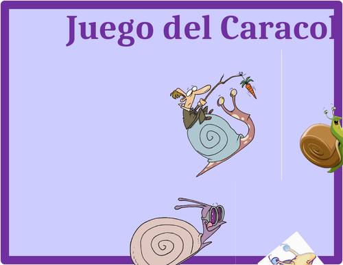 Halloween in Spanish Caracol Snail Game