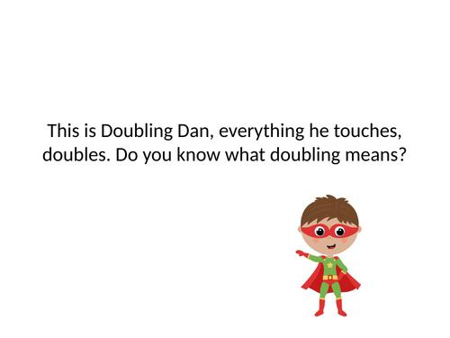 Doubling Dan interactive powerpoint