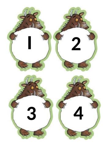 Gruffalo numbers 1-12