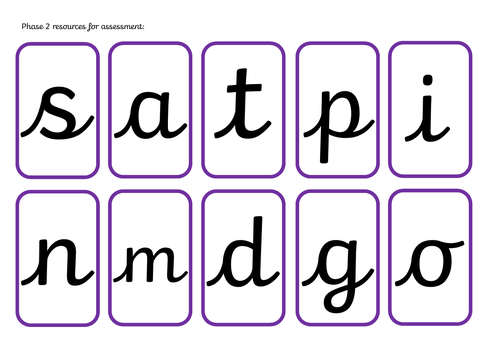 Phase 1-4 phonics assessment resources