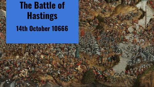 The battle of Hastings (14th Oct)teaching slides/worksheet.