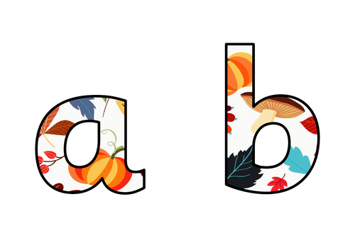 Autumn Display Lettering