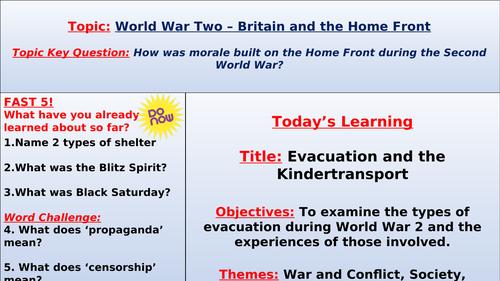 World War 2: Evacuation and the Kindertransport