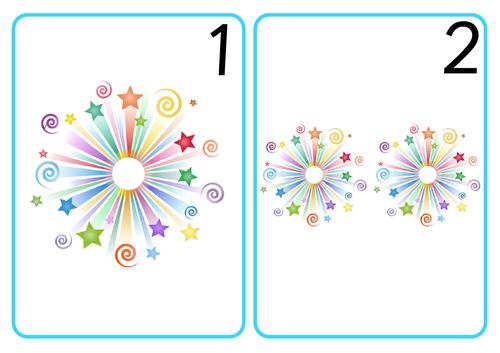 Firework Number Cards