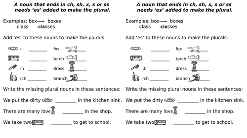 Spelling Plural Words Rules Add Suffixes