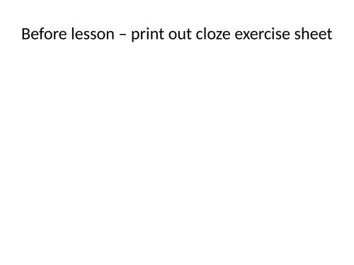 Tense lesson