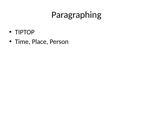 Types of paragraphing for literary reading