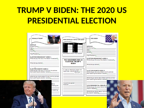 Trump v Biden: The 2020 US Presidential Election