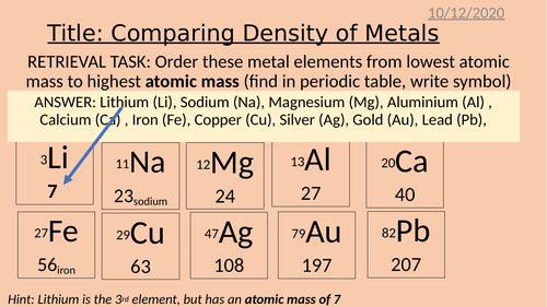 Density Lesson and Practical Powerpoint