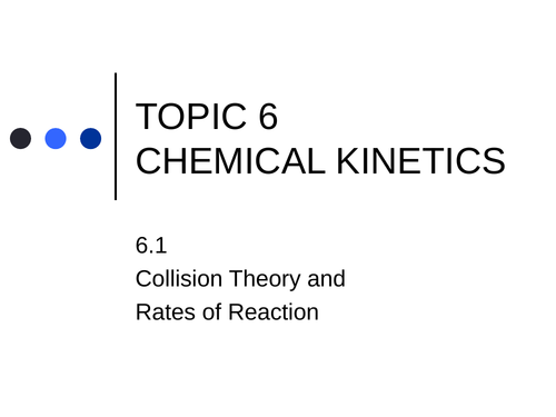 IBDP Chemistry Topics 6 and 16 (Kinetics) PowerPoint Bundle