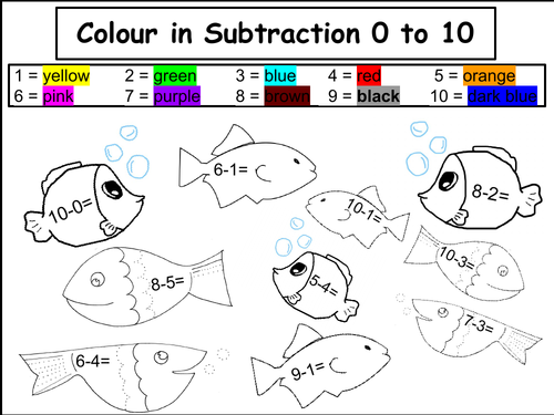 Colour in Addition and Subtraction to 5 and 10
