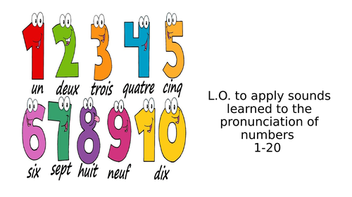 Numbers 1-20 and Age