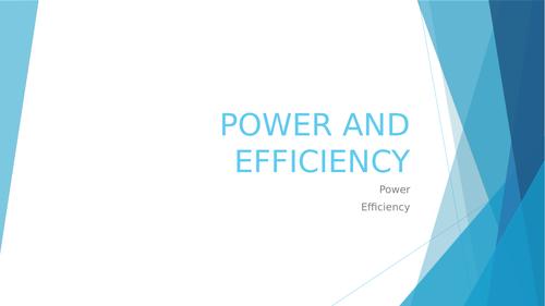 Cambridge IGCSE Physics Power and Efficiency