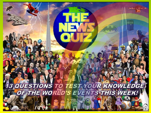 CURRENT WEEK The News Quiz 12th  October - 2nd November 2020 Form Tutor Time Current Affairs