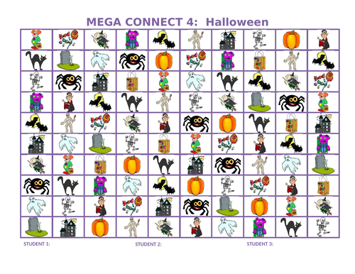 Halloween Mega Connect 4 Game