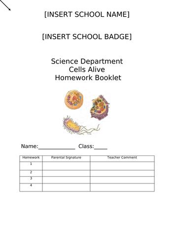 Science Homework Booklet - Cells