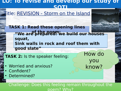 Heaney's Storm on the Island Revision LA