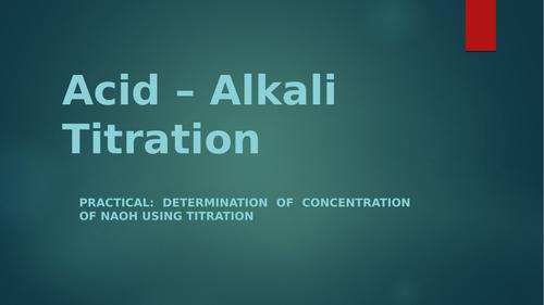 IGCSE Chemistry Titration of Acid and Base