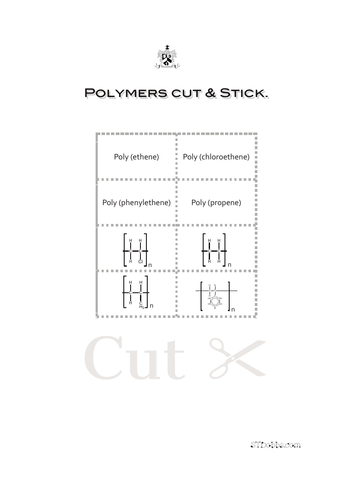 Polymers cut & stick