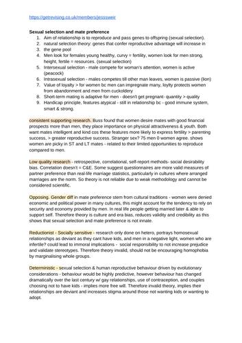 A-Level Psychology: Relationships Notes