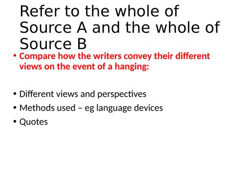 AQA English Language Paper 2 death penalty GCSE