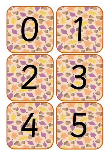 Autumn Number Cards 0-10