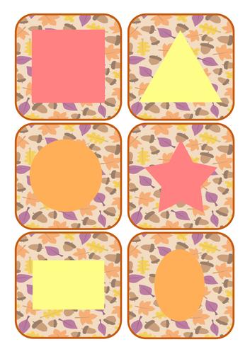 Autumn Shape Cards