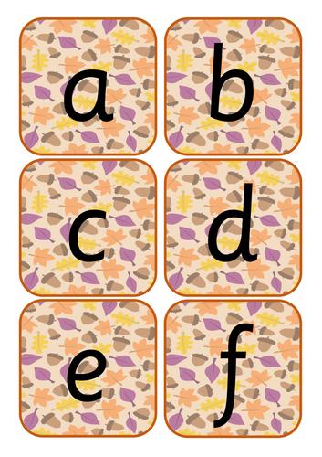 Autumn Alphabet Cards