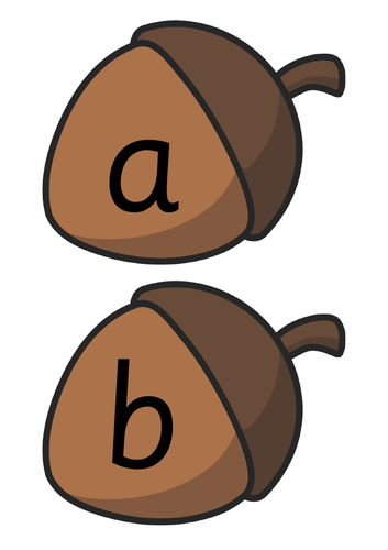 Acorn Alphabet Cards