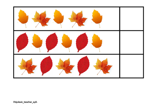 Autumn Leaf Repeating Pattern Cards