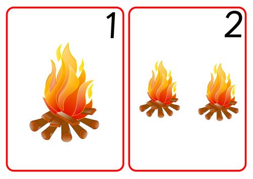 Bonfire Number Cards