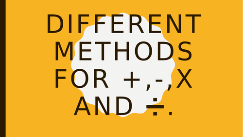 Using different methods in Maths