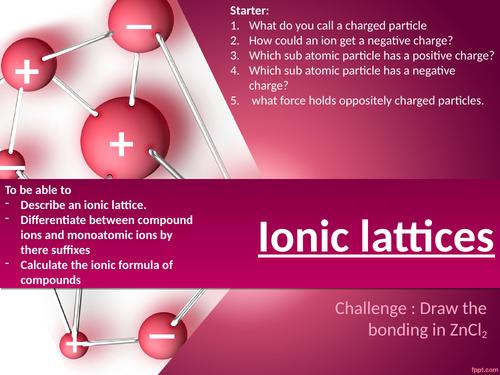 CC5b Ionic lattices edexcel