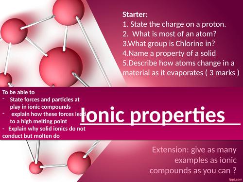 CC5c Ionic properties edexcel