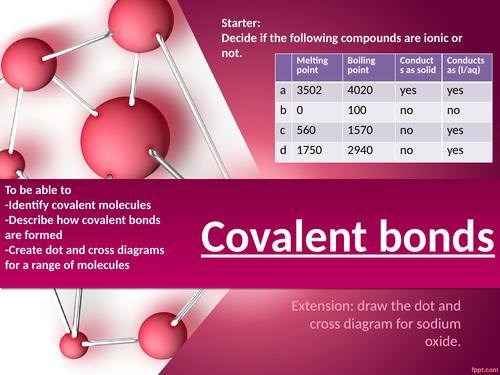 CC6a Covalent bonding edexcel