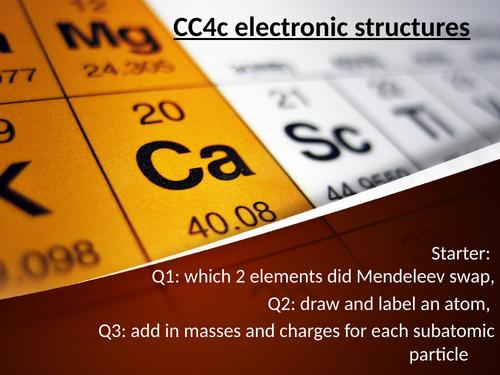 CC4C electronic configuration edexcel