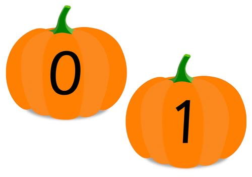 Pumpkin Number Cards 0 - 10