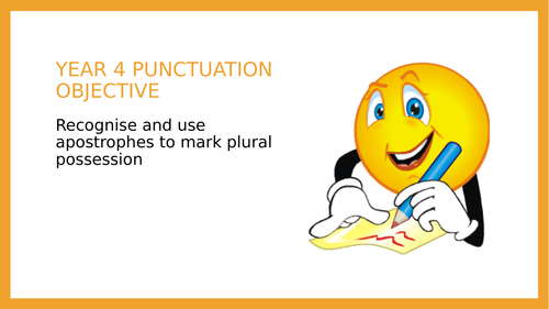 Year 4 SPAG PPT: Apostrophes to show plural possession