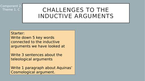 Challenges to inductive arguments Eduqas
