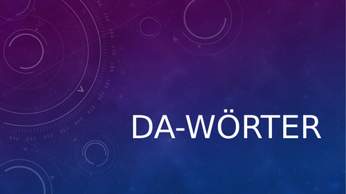 Da-Words in German