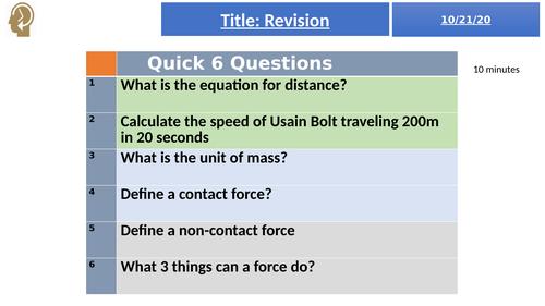 Forces = KS3 activate revision