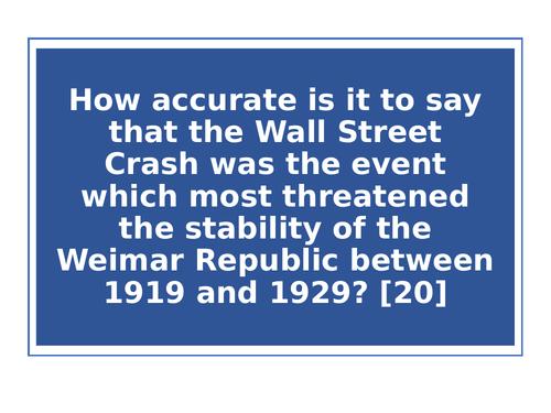 Weimar stability exam style question (Edexcel)