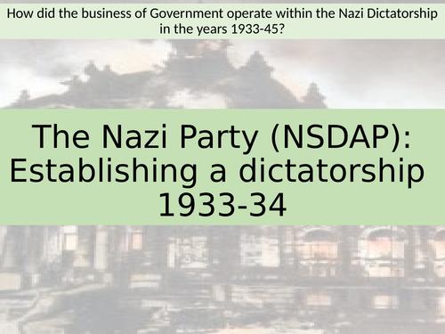 Establishing a dictatoriship (Nazi) - Edexcel A level