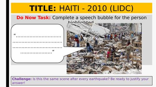 Tectonics: L6 LIDC Earthquake Case Study