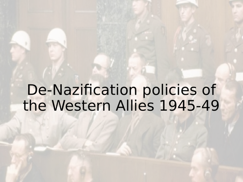 De-Nazification and support in FRG (Edexcel)